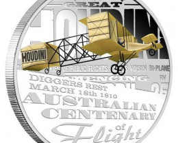2010 Australian Centenary of Flight 1oz Silver Proof Coin