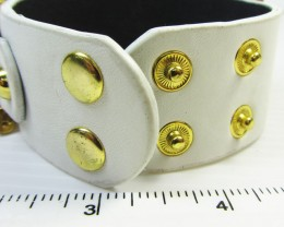 GOLD PLATED SAFTEY PIN  BRACELET  QT 334