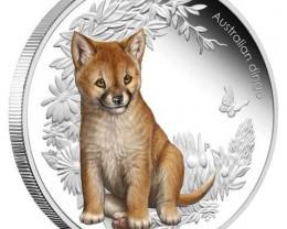 Australian Bush Babies 1/2oz Silver 99.9%  Proof Dingo Coin