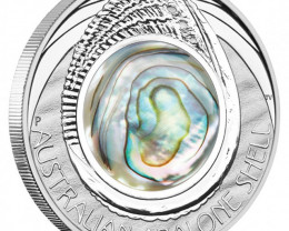 AUSTRALIAN ABALONE SHELL 2014 1OZ SILVER PROOF COIN