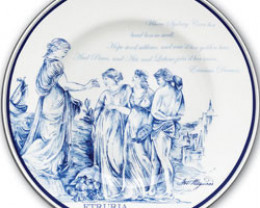 Sydney Cove Medallion 1oz Silver Proof Coin n Wedgwood Plate