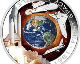 1981 First Space Shuttle 1oz Silver Orbital Coin