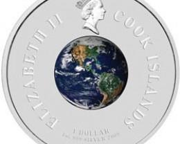 1965 First space walk Silver orbital coin
