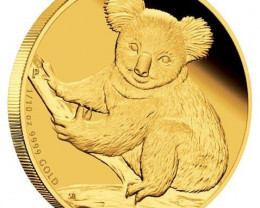 2009 AUSTRALIAN KOALA 1/25 GOLD PROOF COIN