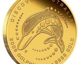 Discover Australia 2009 Dreaming Dolphin 1/2oz GOLD COIN