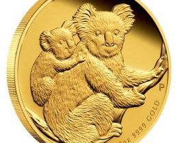 AUSTRALIAN KOALA 2008 1/25 GOLD COIN