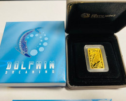 2010 Dolphin Dreaming 10g, Gold Coin 99.99 pure
