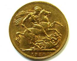 GOLD SOVEREIGN PETORIA MINT 1928 HIGH GRADE COIN C05
