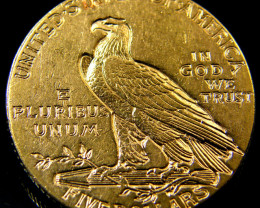 USA GOLD COIN 1910 FIVE DOLLARS INDIAN HEAD CO 159