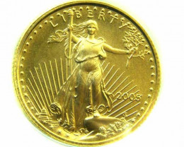 PARCEL 5 LIBERTY 2005 1/10 OUNCE FINE GOLD COIN CO 369