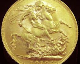 1919  VF/GVF Full Gold Sovereign George V    code  CO2349