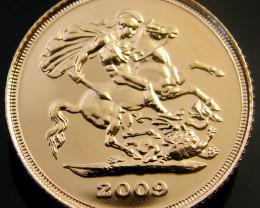 GOLD COIN HALF SOVEREIGN 2009 CO 170