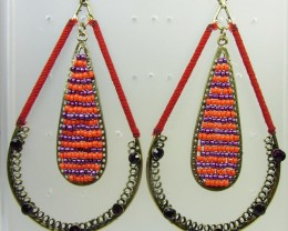 LARGE LOOP BEAD EARRINGS QT 349
