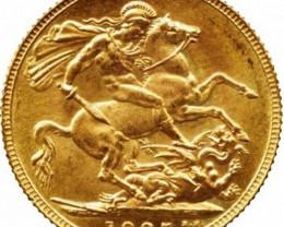 1925 Gold soverign B.M 0.2354 oz AGW