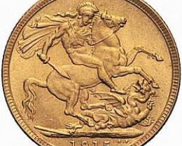 1915 Gold soverign B.M 0.2354 oz AGW