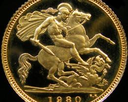 1980 QUEEN ELIZABETH HALF GOLD SOVEREIGN CO 26