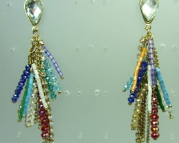 MULTI STRAND BEAD EARRINGS QT 351