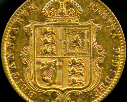 1892 UK  VICTORIA 1/2 SOVEREIGN JUBILEE CO 604