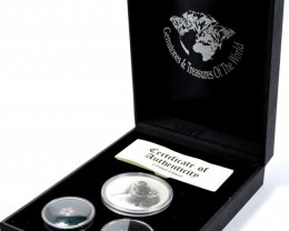 Treasures Collector set SAPPHIRE & 99.9% KOALA SILVER COIN ATSA 66-100