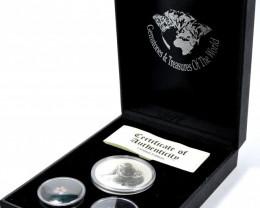 Treasures Collector set SAPPHIRE & 99.9% KOALA SILVER COIN ATSA 66-100