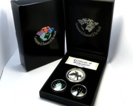 Treasures Collector set Gold ,Diamonds O Silver Kookaburra AGS 102