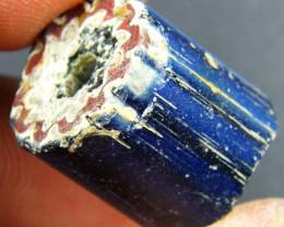 60 BC Egyptian Faience Glass Bead Artifact op 1821