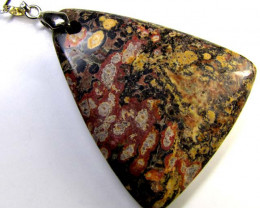 STUNNING AGATE TRI PENDANT 87 CTS MYG 1298