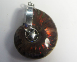 110 cts AMMONITE PENDANT FROM MADAGASCAR MGMG 409