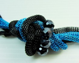 BLUE BLACK  FASHION  STYLE  NECKLACE    QT 408
