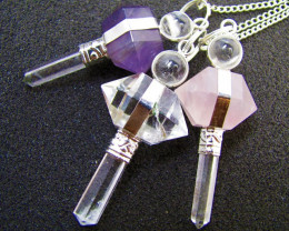 Three mixed Gemstone Pendulums MJA 446