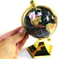 GEMSTONE GLOBE CARRIBEAN BLUE COLOUR 8CM /HT 9 INCHES TW1018