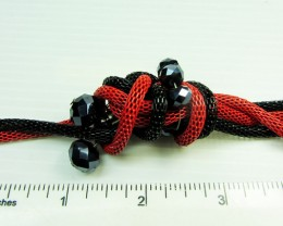 RED N BLACK FASHION  STYLE  NECKLACE    QT 427