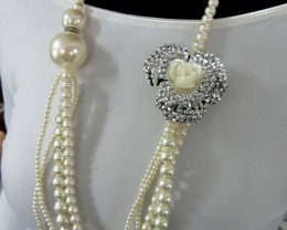 WILDHIGH LUSTER PEARL NECKLACET  QT 451