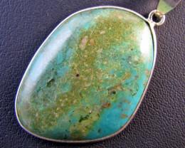 66 CtsTibetan Turquoise Pendant MJA 674