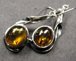 BALTIC AMBER SILVER EARRINGS 37 TCW MYG 765