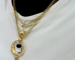 LONG FASHION  STYLE  NECKLACE N EARRINGS   QT 454