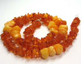 74 CTS NATURAL BALTIC AMBER NECKLACE 44 CM MGMG237