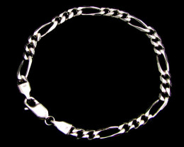QUALITY AUSTRALIAN MADE 925 SILVER FIGARO BRACELET CMT 81