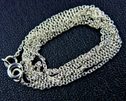 CABLE NECKLACE SILVER CHAIN 925 CHAIN 55CM CMT 14