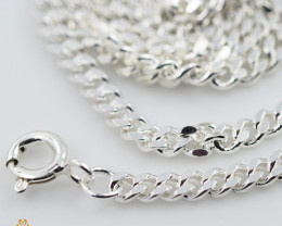 18Inch, 46 cm 2.9 x 1.3 mm Cable Silver chain . AM 1064