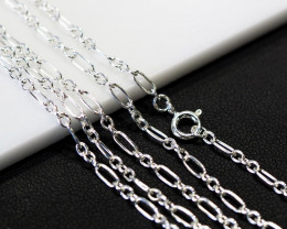 30 Inch,75 cm Long Curb Silver chain , most popular . AM 239