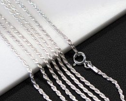 20 Inch,50 cm Twisted Silver chain , most popular . AM 214