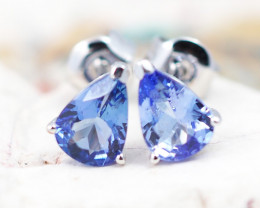 Natural Tanzanite in Gold 10K Earrings F8D