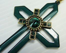 CROSS LONG FASHION  STYLE  NECKLACE    QT 468
