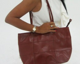 Gemstone Leather Like Brown Shoulder Bag OP 55