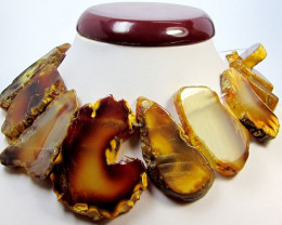 560 CTS NATURAL SHAPE STAND AGATE BEADS AGR 336