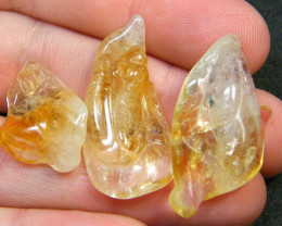 43 CTS PARCEL 3 ABSTRACT CITRINE CARVING AG 177