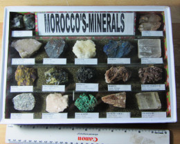 1.6 KILO MOROCCOS MINERALS DISPALY CASE MS 1947A