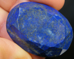 35 CTS LAPIS LAZULI OVAL FACETED STONE AG 1517