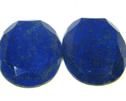 113.05 LAPIS LAZULI OVAL FACETED STONES AG 1545